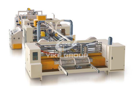 Máquina encoladora de plegado y plegado de cartones completamente automática